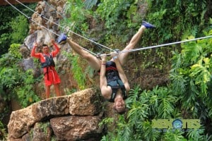 Ziplining in Mexico